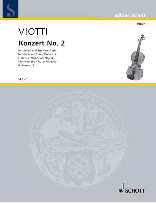 Violin concerto no.2 in E Major image